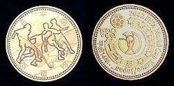 2002 FIFA World Cup Korea/Japan 500 yen Nickel-brass Coin (Europe & Africa)