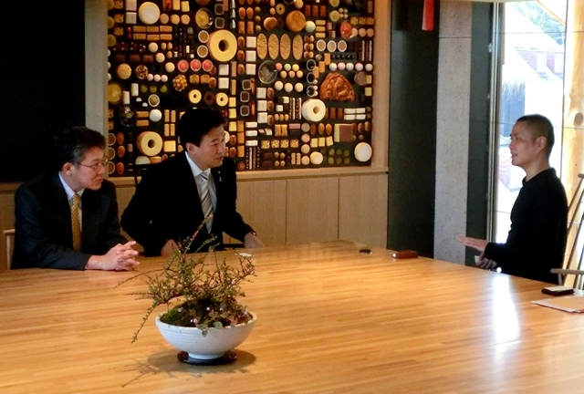 たねやグループ山本社長との対談写真